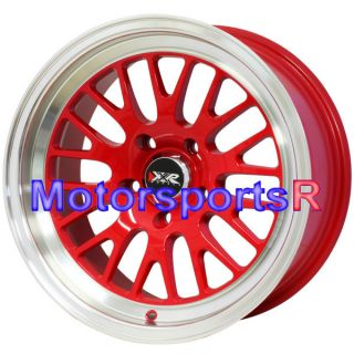 16 16x8 XXR 531 RED Deep Dish Lip Wheels Rims 5x114 3 Stance 02 06