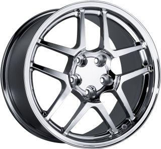 18 Staggered Chrome Corvette Z06 Wheels Rims C4 C5