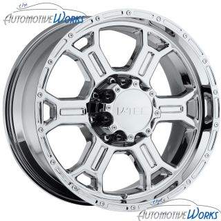 Tec Raptor 6x139 7 6x5 5 25mm Chrome Wheels Rims inch 22