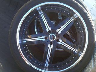 24 MHT Illusion Range Rover Land BMW Staggered 24 Rims Wheels & Nitto