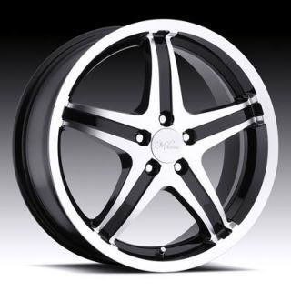 Milanni 446 Kool Whip 5 5x100 Matrix Legacy Black Wheels Rims