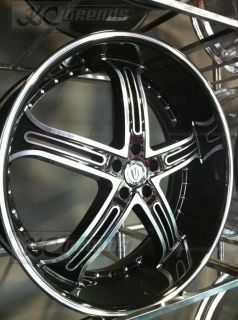 24 Versante 226 Black Rims Tires Chrysler 300 C