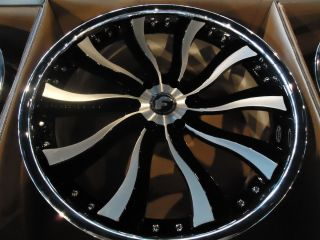 24Forgiato Inferno Wheels Nissan Escalade Chevy Yukon Tahoe