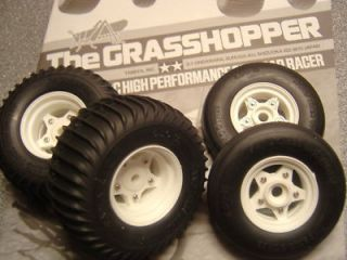 Tamiya Grasshopper Sand Scorcher New Wheels Tyres Set