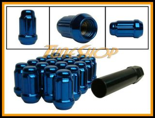 Spline Tuner Lock Lug Nuts 12x1 25 1 25 Acorn Wheel Rim Blue S