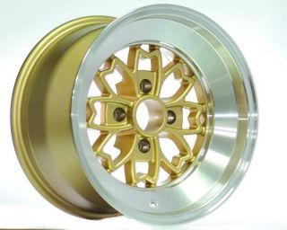 15 Rota Aleica Gold Rims Wheels 15x8 10 4x100 BMW E30 Scion XB XA