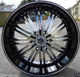 28 VERSANTE 225 BLACK WHEELS & TIRES ESCALADE TAHOE AVALANCHE YUKON