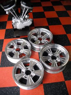 WHEELS RIMS FULLY POLISHED FIT HOT ROD STREET RAT ROADSTER FORD 29