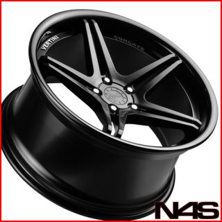 SL550 SL600 SL55 SL63 Vertini Monaco Concave Black Wheels Rims