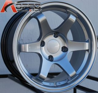 15x8 Varrstoen Wheels 4x100 Rim 0mm Offset Hyper Silver Fits BMW E30