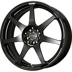 New 17x7 5 5x108 5x115 Drag Dr 33 Black Wheels Rims