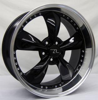 Black Bullitt Wheels 20x8.5 & 20x10 20 inch Deep Dish fits Mustang