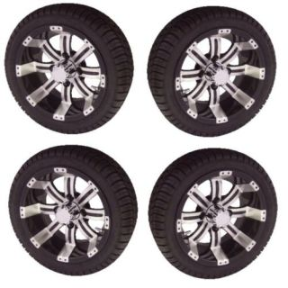 Golf Cart 12 Tempest Wheels Low Profile 205 30 12 Tire