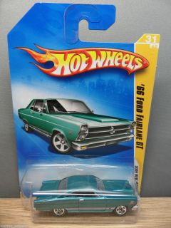 2009 Hot Wheels 1 64 New Models 1966 Ford Fairlane GT 427 31 Teal 5S