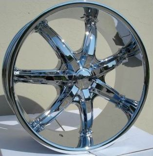 24 inch U35S Chrome Wheels Rims 6x135 Ford Expedition