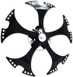 24 Black Spinner Spinners Wheels Rims Fit Any Car