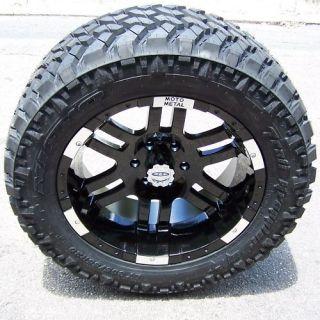 20 Black Moto Metal 951 Wheels Rim 33 Nitto Trail Grappler Tires
