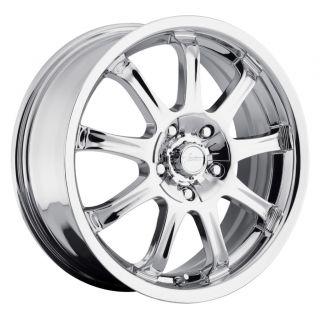 9x 424 Chrome Wheels Rims 4x4 25 4x108 Ford Focus Contour