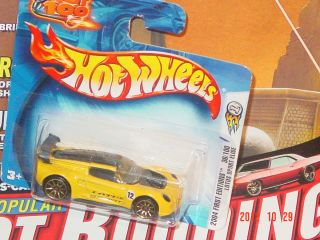 2004 Hot Wheels FE 36 Lotus Sport Elise Yellow on Short Card