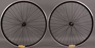 Shimano 105 36 Hole Velocity Deep V Black Road Bike Wheels Wheelset