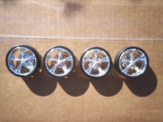 Inch Chrome Torque Thrust Model Car Wheels (Rims + Tires) 124 25 Donk
