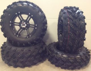 ITP SS212 14 Wheels Black 27 Swamp Lite Tires Polaris Sportsman RZR
