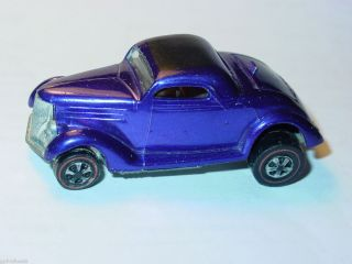 Hot Wheels Redline Classic 36 Ford Coupe w Light Interior Purple Nice