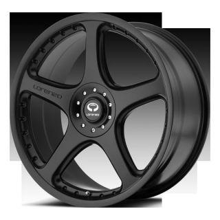 20 Wheels Rims Lorenzo WL28 Black Jetta Passat GTI A6