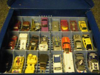 34 Cars Hot Wheels Lot Matchbox Car Case Deluxe Redline 80s 60s 70s