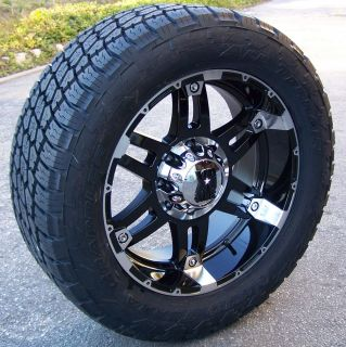20 Black XD Spy Wheels Nitto Terra Grappler Tires Yukon Silverado