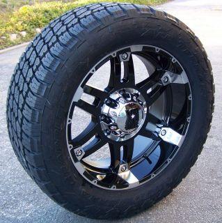 20 Black XD Spy Wheels Nitto Terra Grappler Tires Yukon Silverado