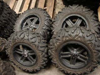 OF 14 JOHN DEERE GATOR 5 lug ALLOY WHEELS TIRES 27X9 00R14 27X11 00R14