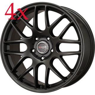 Drag Wheels DR 37 19x8 5x114 3 et40 Flat Black Rims g35 s2000 350z
