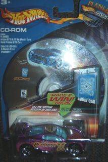 Mattel Hot Wheels 2001 Protonic Energy Car 3 6 w CD ROM Games New in