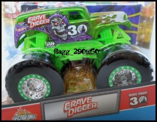 Hot Wheels Monster Truck* 30TH ANNIVERSARY GREEN GRAVE DIGGER  with