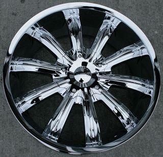 22 inch Incubus Chrome Wheels Rims Infiniti G35 G37 M35