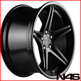 528 530 540 Vertini Monaco Black Concave Staggered Wheels Rims