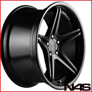 528 530 540 Vertini Monaco Black Concave Staggered Wheels Rims