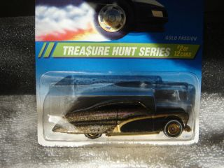 1995 TREASURE HUNT HOT WHEELS (* # 2 GOLD PASSION * ) MINTY