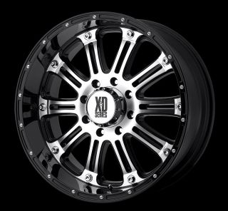 20 inch KMC XD Hoss Black Wheels Rims 5x150 30