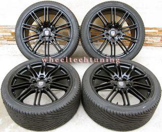 Porsche Cayenne Sport Edition Style Wheels and Tires Flat Black