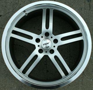 Indy 500 20 Silver Rims Wheels Audi A4 A6 A5 A6 20 x 8 5 5H 40