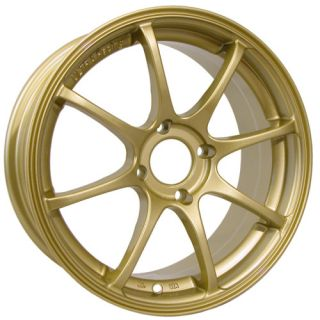17 Konig Feather Gold Rims Wheels 17x7 45 5x114 3 RSX