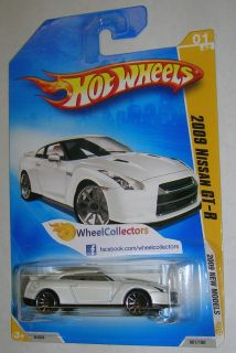 2009 Nissan GT R White 2009 Hot Wheels 2009 New Models 1 42