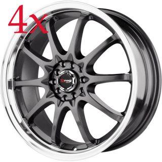 Drag Wheels DR 9 17x7 5x100 5x114 3 et40 Gun Metal Rims g35 rx8 s2000