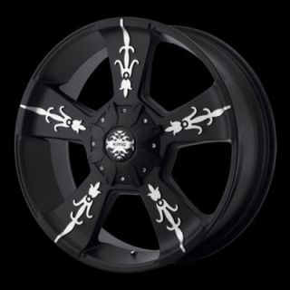 Inch 20x9 KM668 Vandal BLACK WHEELS Rims 8 LUG Chevy Dodge 2500 Truck