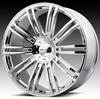 24 inch KMC Chrome Wheels Rims 5x4 5 5x114 3 I30 G35 G37 I35 M35 M45