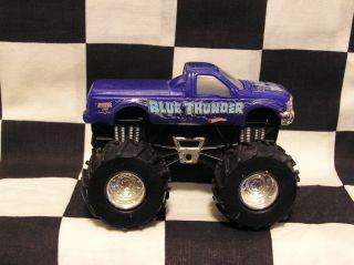 Hot Wheels 1 43 Scale Revtredz Blue Thunder LVGC Monster Jam Truck
