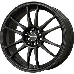 New 17x7 4x100 4x114 3 Drag Dr 38 Black Wheels Rims