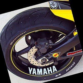 Yamaha Decal Sticker FZ6R FZR R6 R1 600 Rim FZ8 Fazer